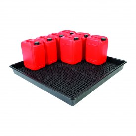 Spill Trays With Removable Grids