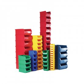 Plastic Coloured Small Parts Bins - Multipacks